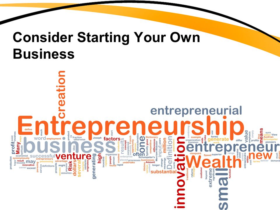 Consider Starting Your Own Business