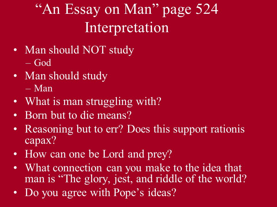 """The Rape of the Lock Part I. """"An Essay on Man"""" page 524 ..."""