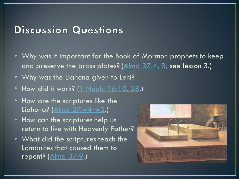 Why was it important for the Book of Mormon prophets to keep and preserve the brass plates.