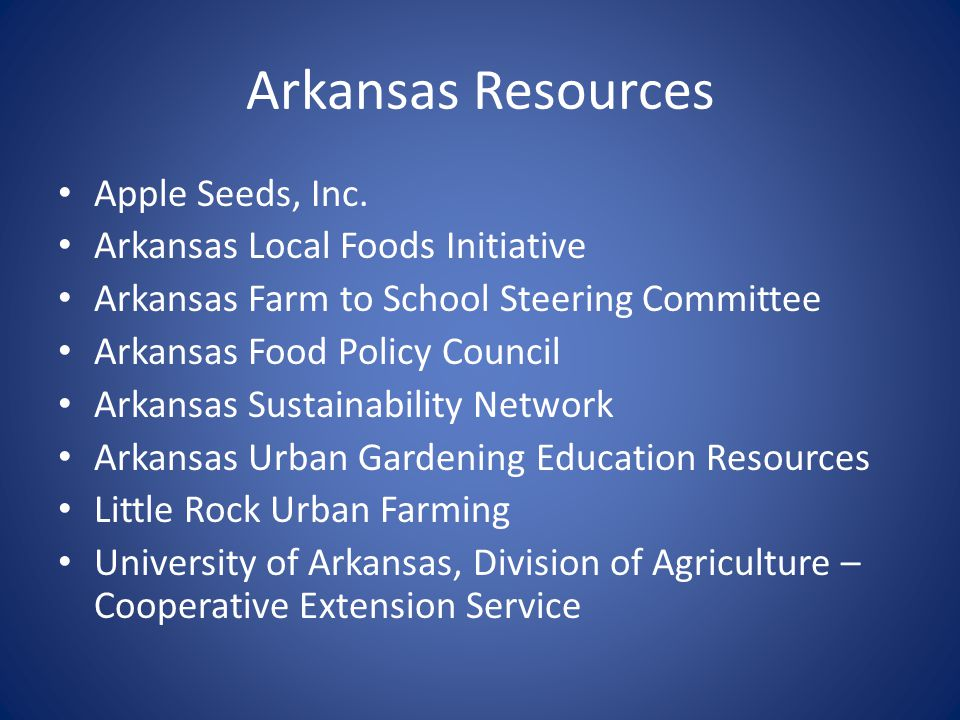 Arkansas Resources Apple Seeds, Inc.
