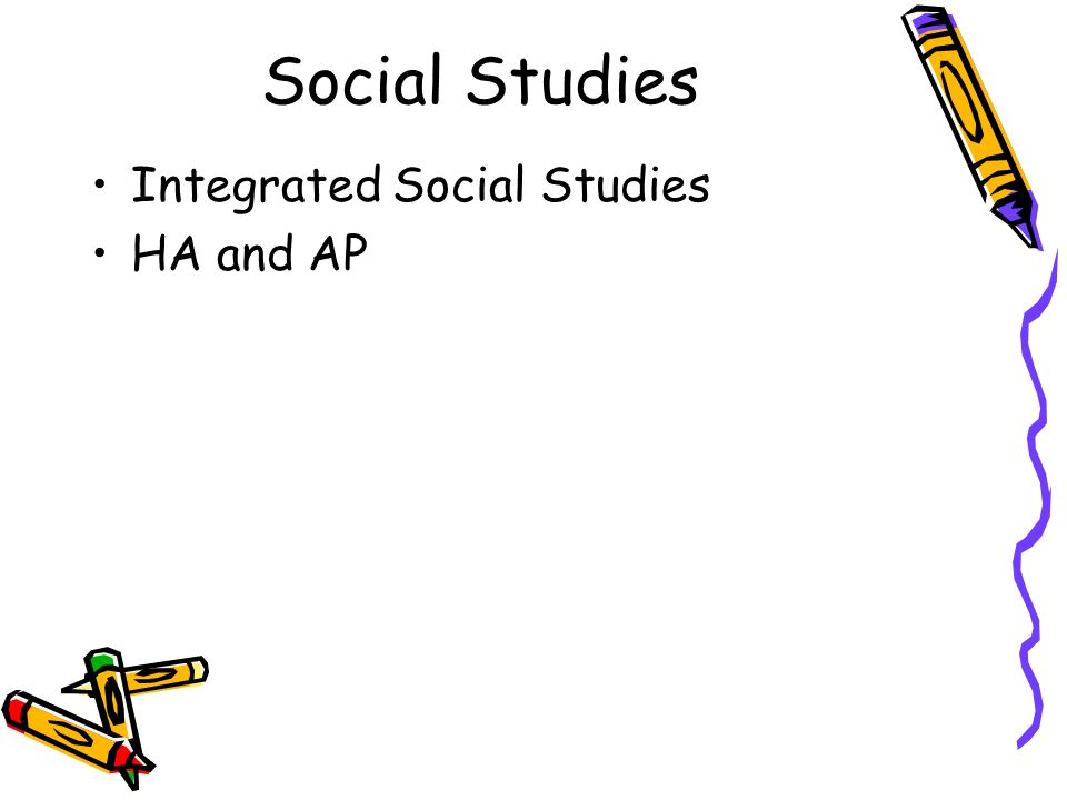 Social Studies Integrated Social Studies HA and AP