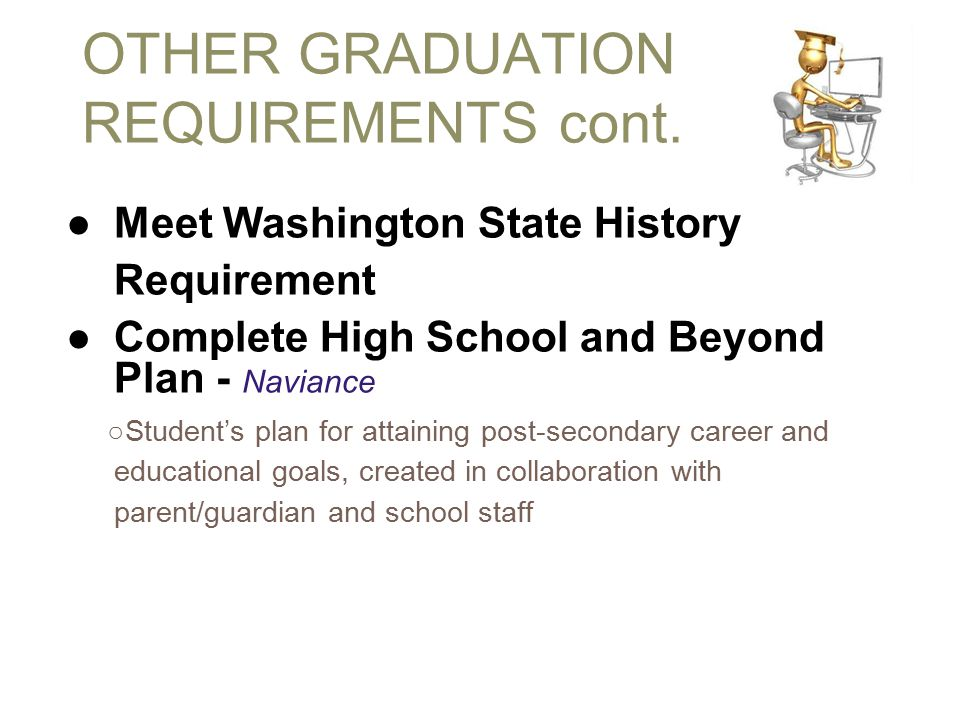 OTHER GRADUATION REQUIREMENTS cont.