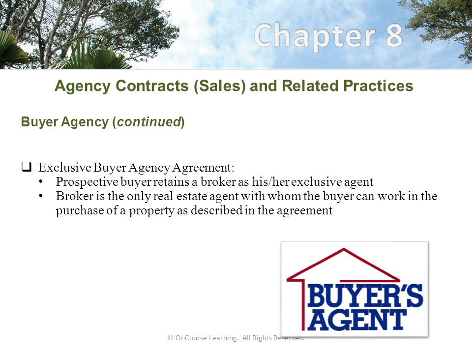 Oncourse Learning All Rights Reserved Agency Contracts Sales And