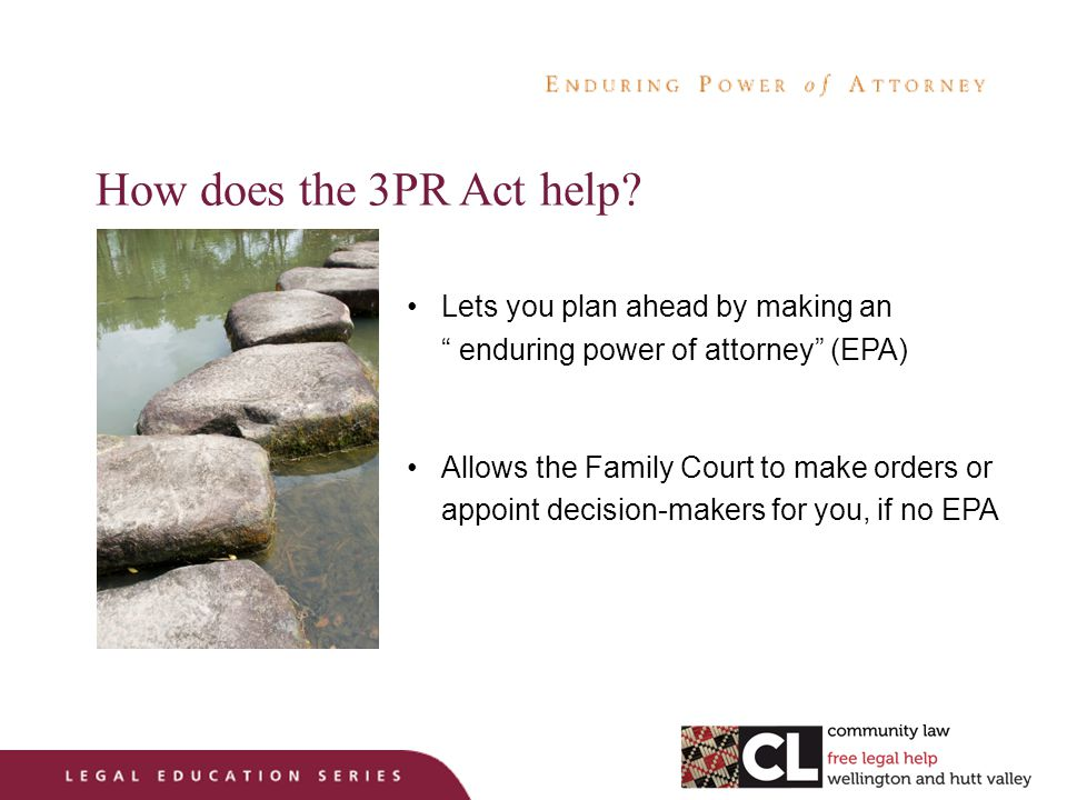 How does the 3PR Act help.