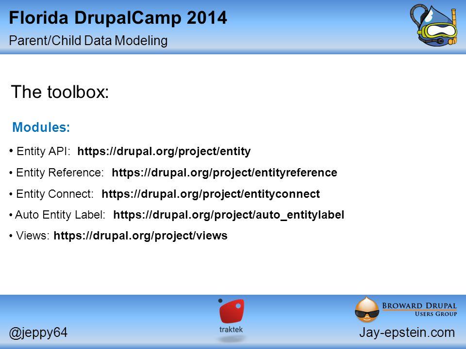 Parent/Child Data Modeling Florida DrupalCamp Intermediate
