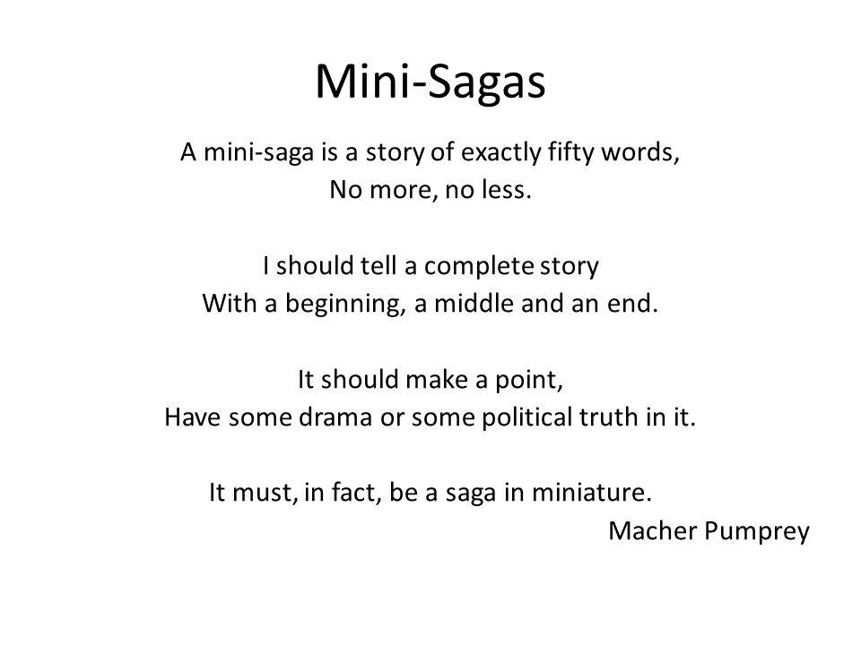 Mini saga examples 100 words