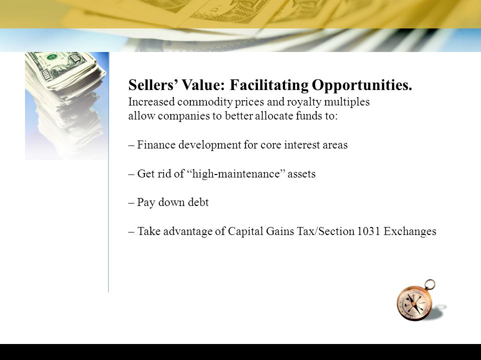 Sellers' Value: Facilitating Opportunities.