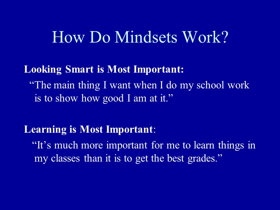 How Do Mindsets Work.