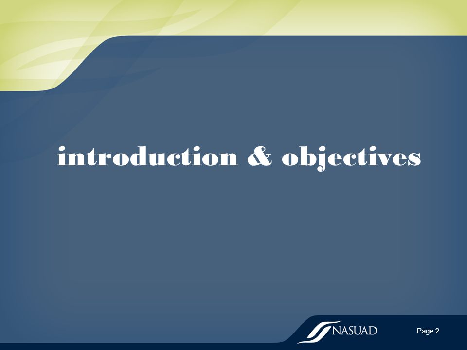 introduction & objectives Page 2