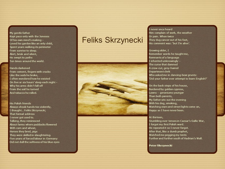 feliks skrzynecki poem