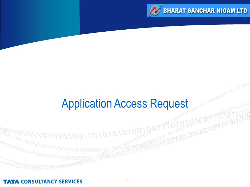 20 Application Access Request