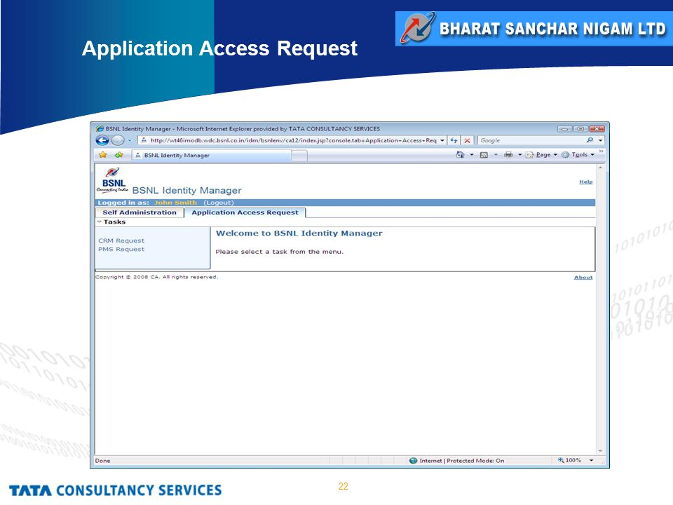 22 Application Access Request