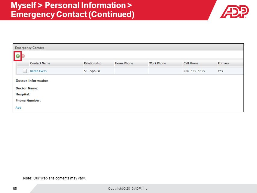 V WFN51 Welcome to Your ADP Workforce Now Employee Self Service Web