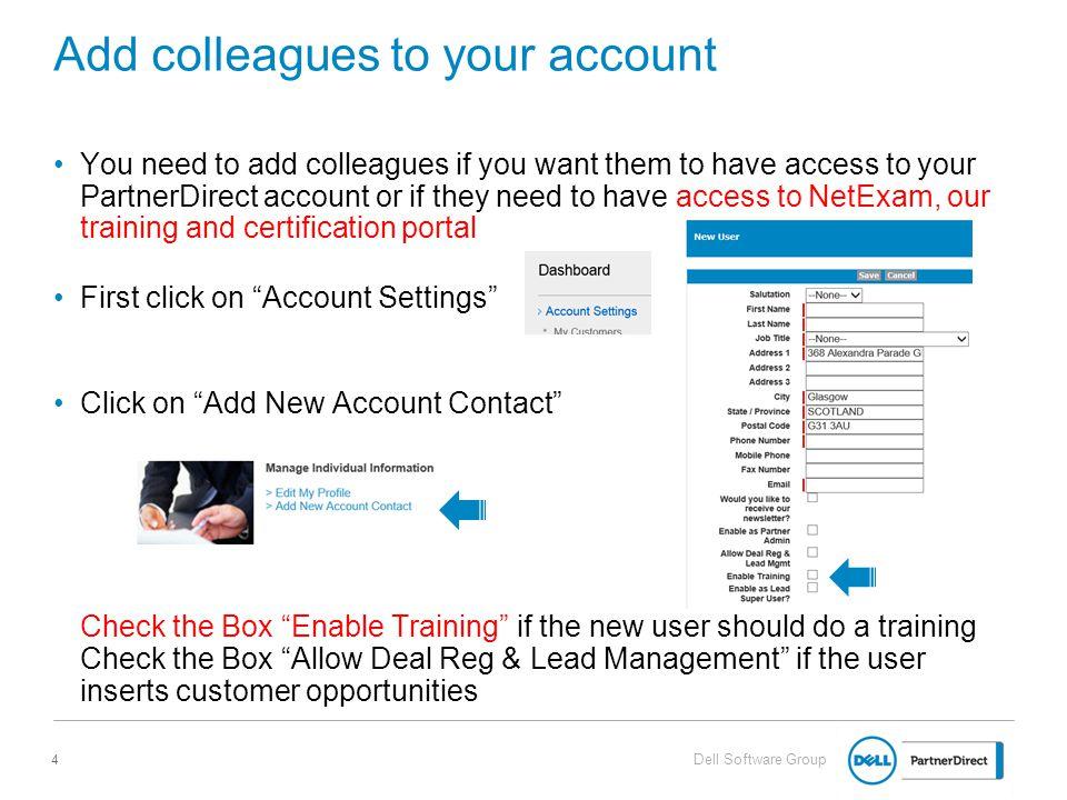 Register As A Partner Dell Partner Direct Portal Jean Marc Baumann