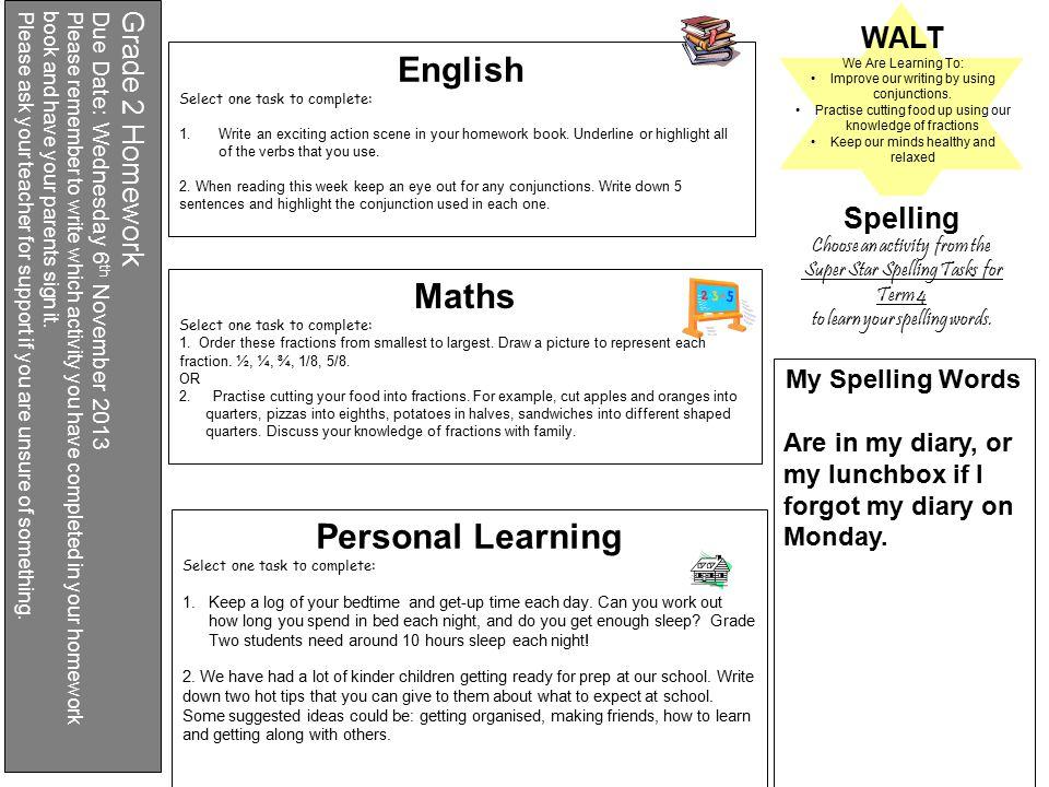 grade 2 homework