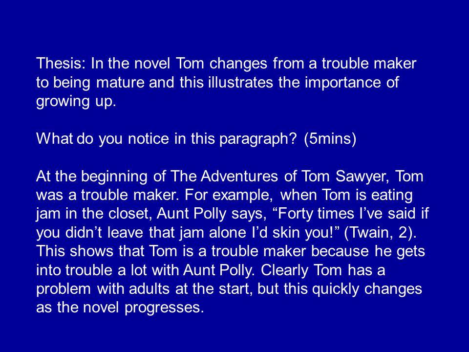 tom sawyer thesis statement