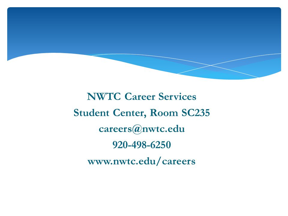 NWTC Career Services Student Center, Room SC
