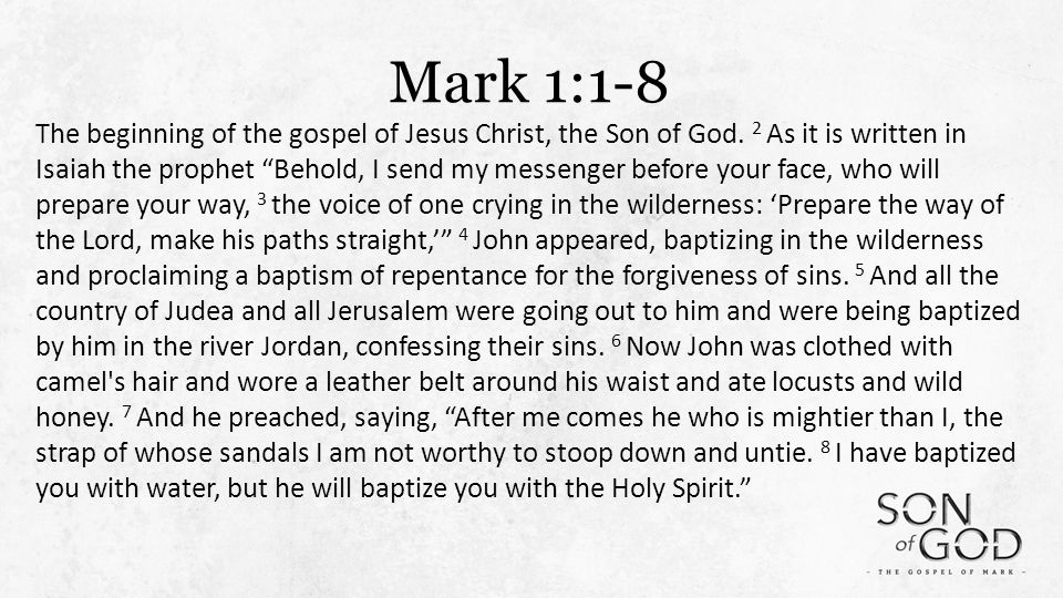 Mark 1 1 >> Three Intro Lessons For A New Testament Christian Mark 1