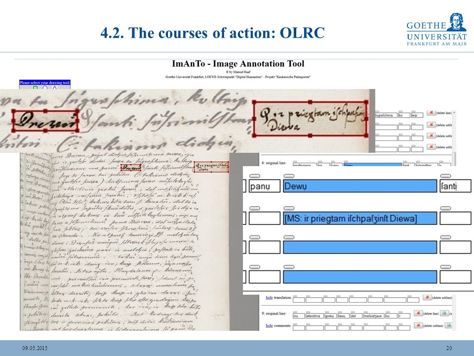 2009.05.2015 4.2. The courses of action: OLRC