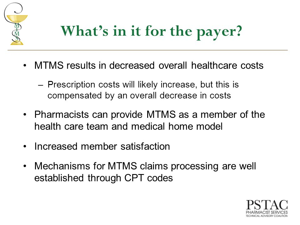 What's in it for the payer.