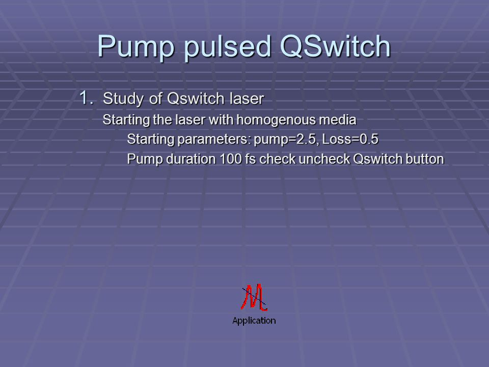 Pump pulsed QSwitch 1.