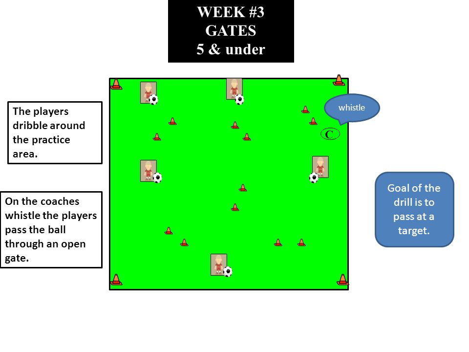 WEEK #3 PASS BACK 5 & under C Divide the players evenly