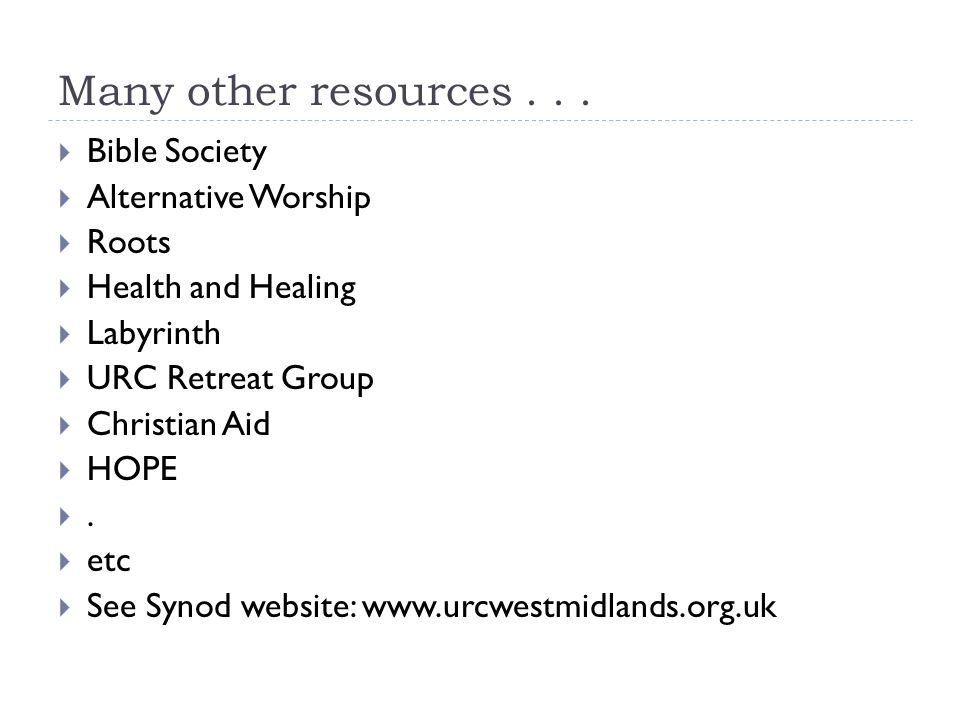 Many other resources...