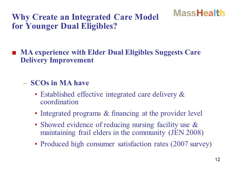 12 Why Create an Integrated Care Model for Younger Dual Eligibles.