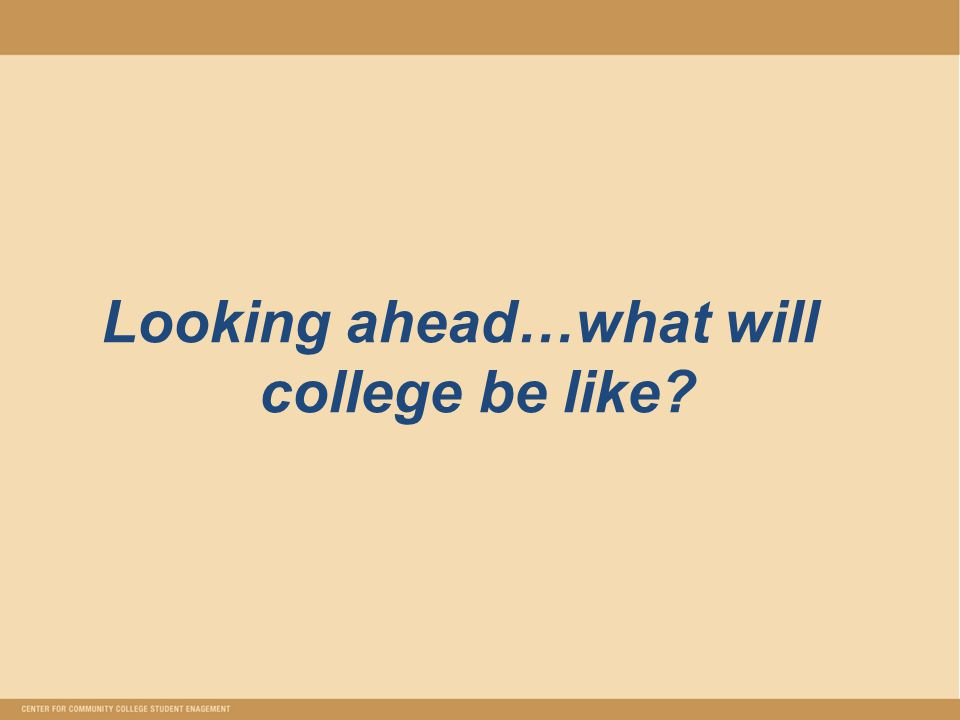 Looking ahead…what will college be like