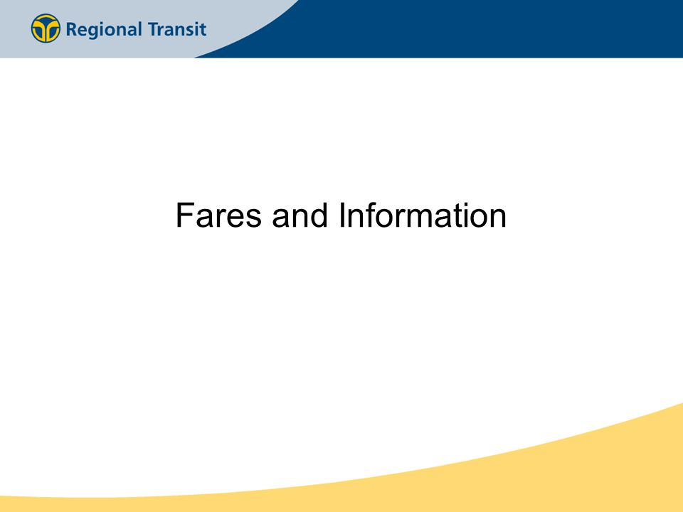 Fares and Information