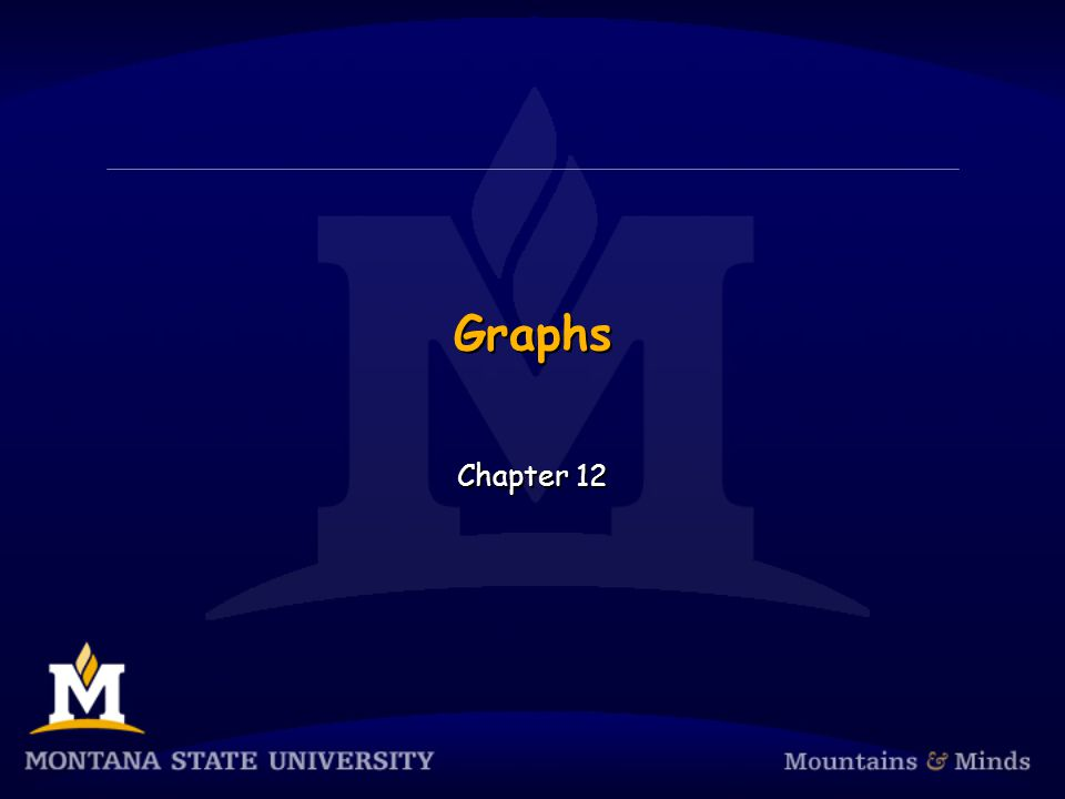 Graphs Chapter 12