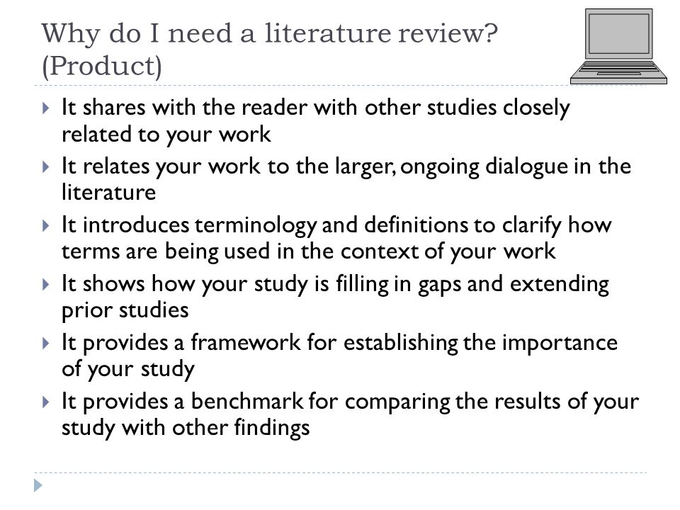 need of literature review