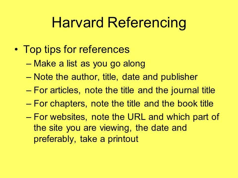 harvard referencing url