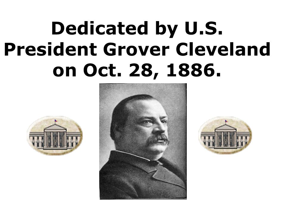 Image result for the statue of liberty dedicated by grover cleveland