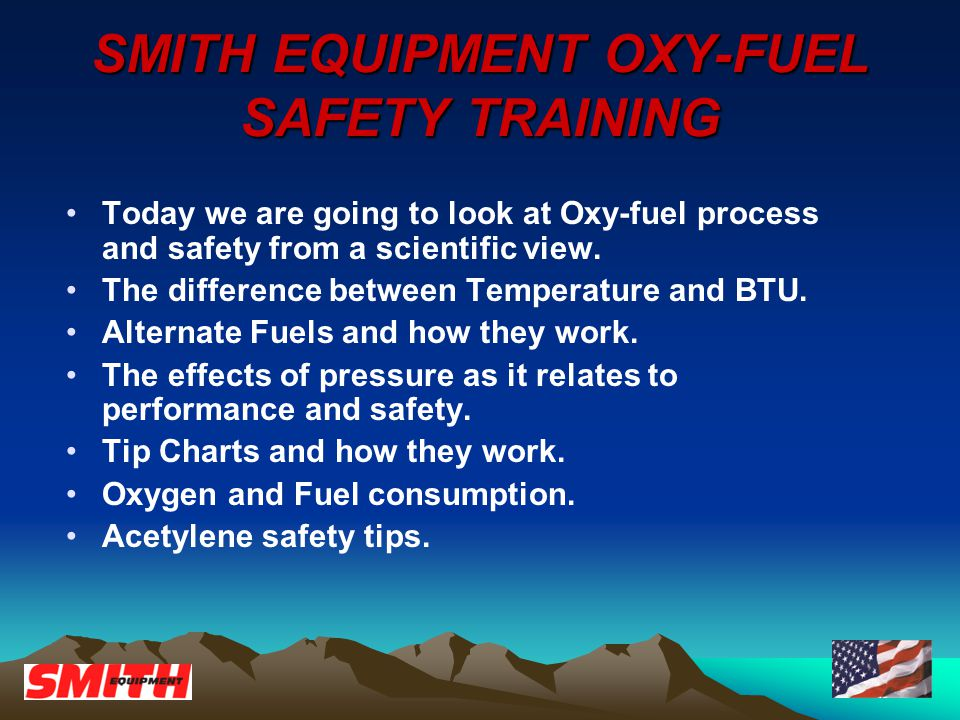 Proudly Made In The USA Since SMITH EQUIPMENT OXY-FUEL
