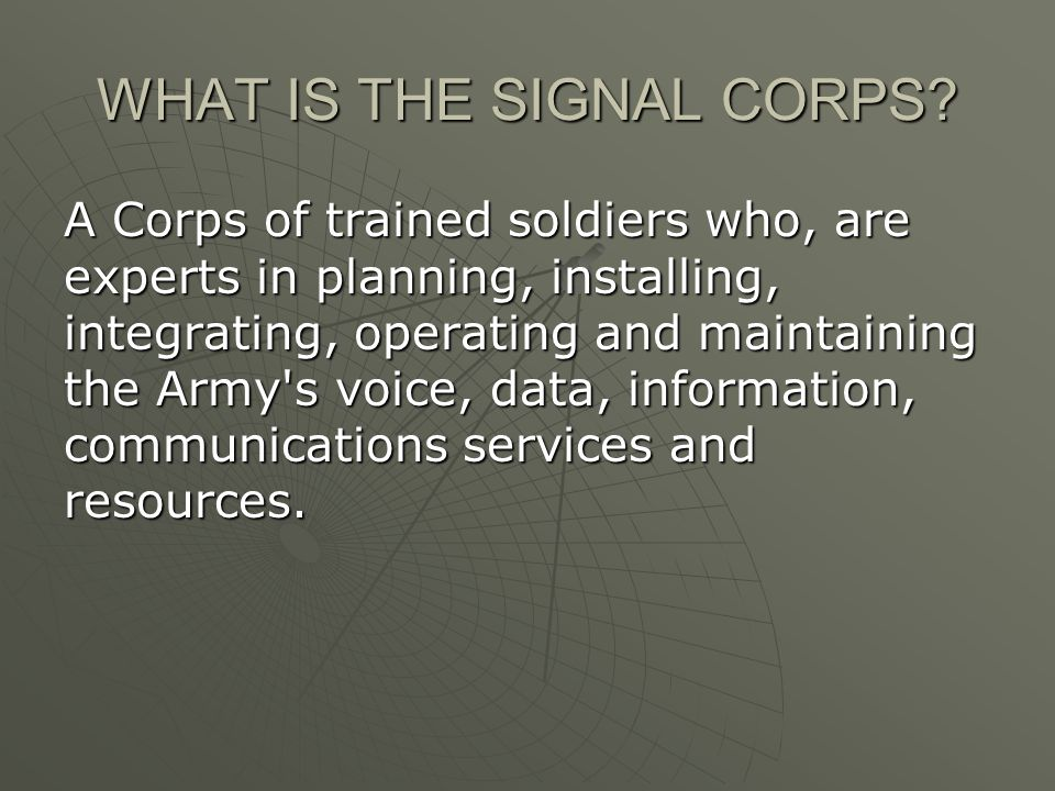 Us army signal corps unclassified purpose given highly what is the signal corps publicscrutiny Image collections