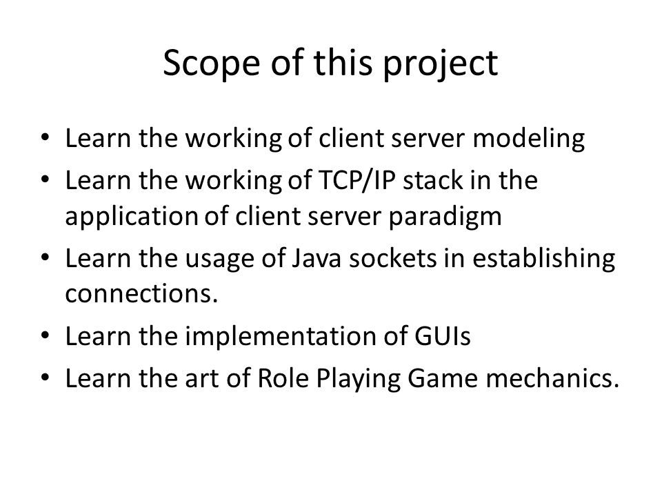 "Implementation and Study of a ""Term"" based Role Playing Game using"