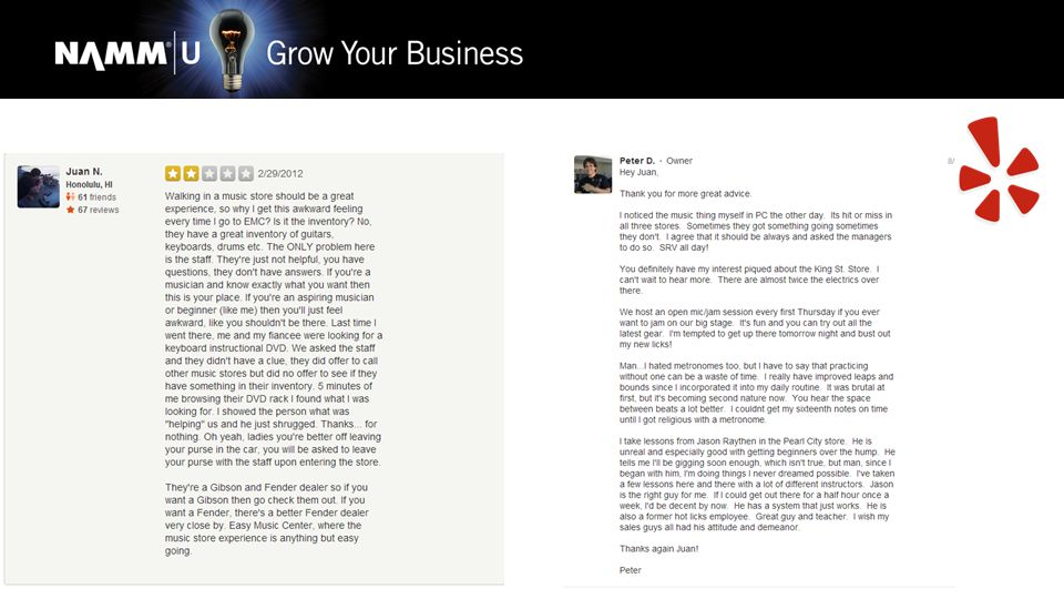 new ways to market your store online peter dods facebook yelp