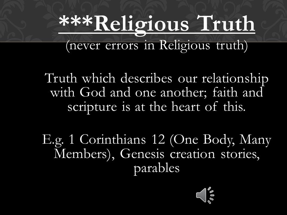 Moral Truth tells us what is right and wrong