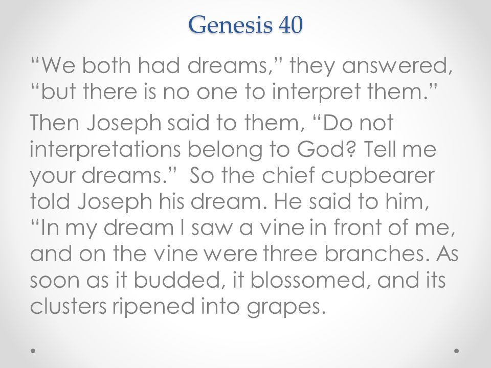 Living In The Gap Persevering Genesis 40 Some Time Later
