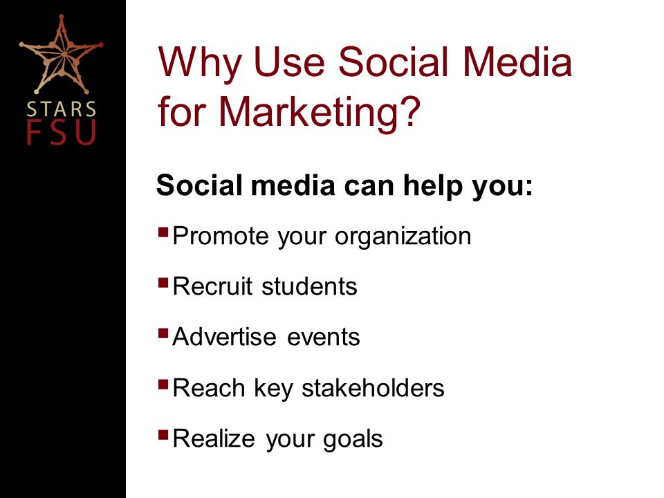Why Use Social Media for Marketing.