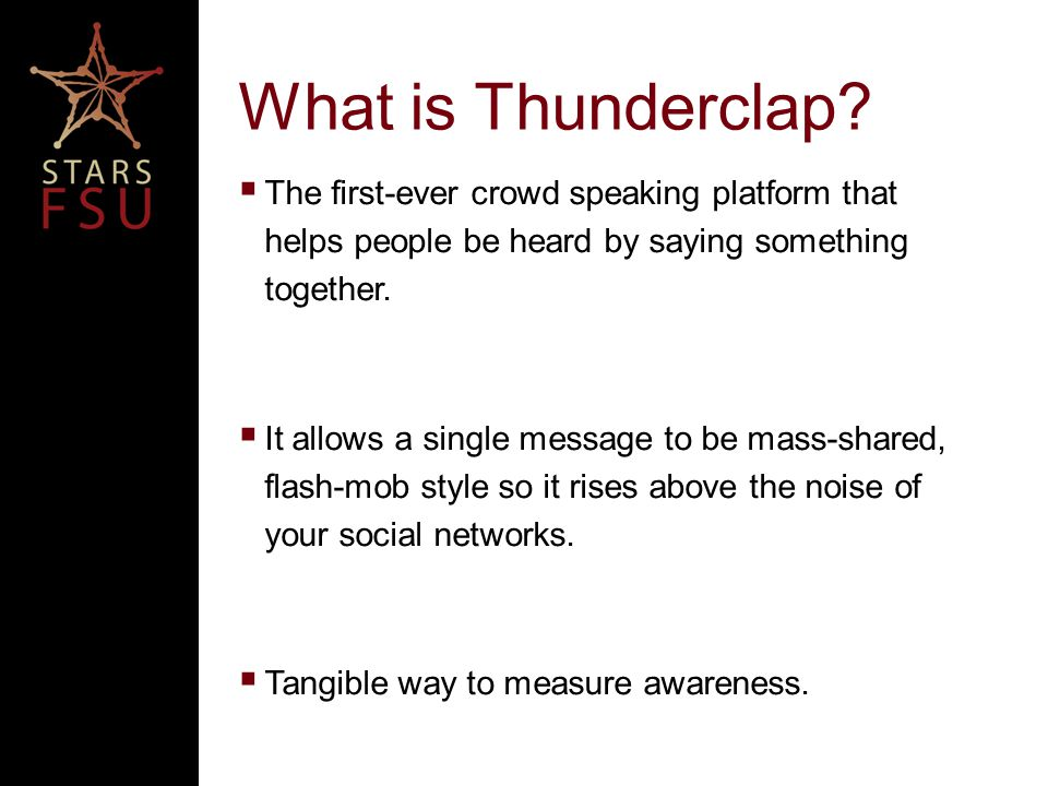 What is Thunderclap.