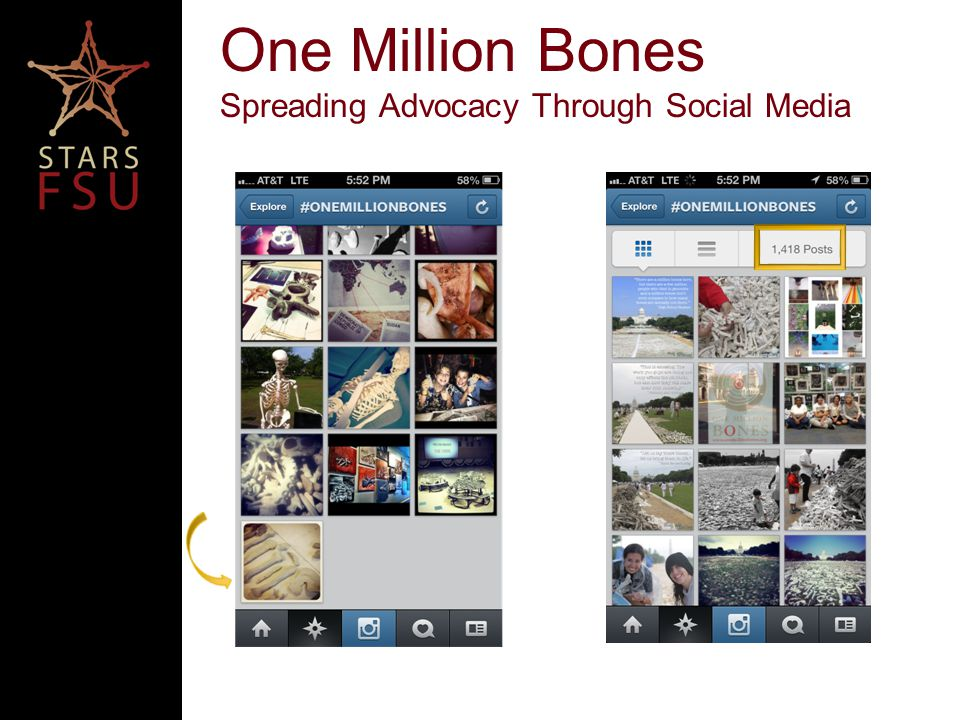 Our organization started the #OneMillionBones hashtag