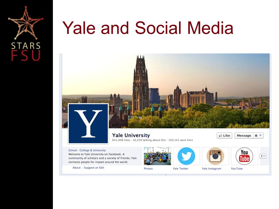 Yale and Social Media