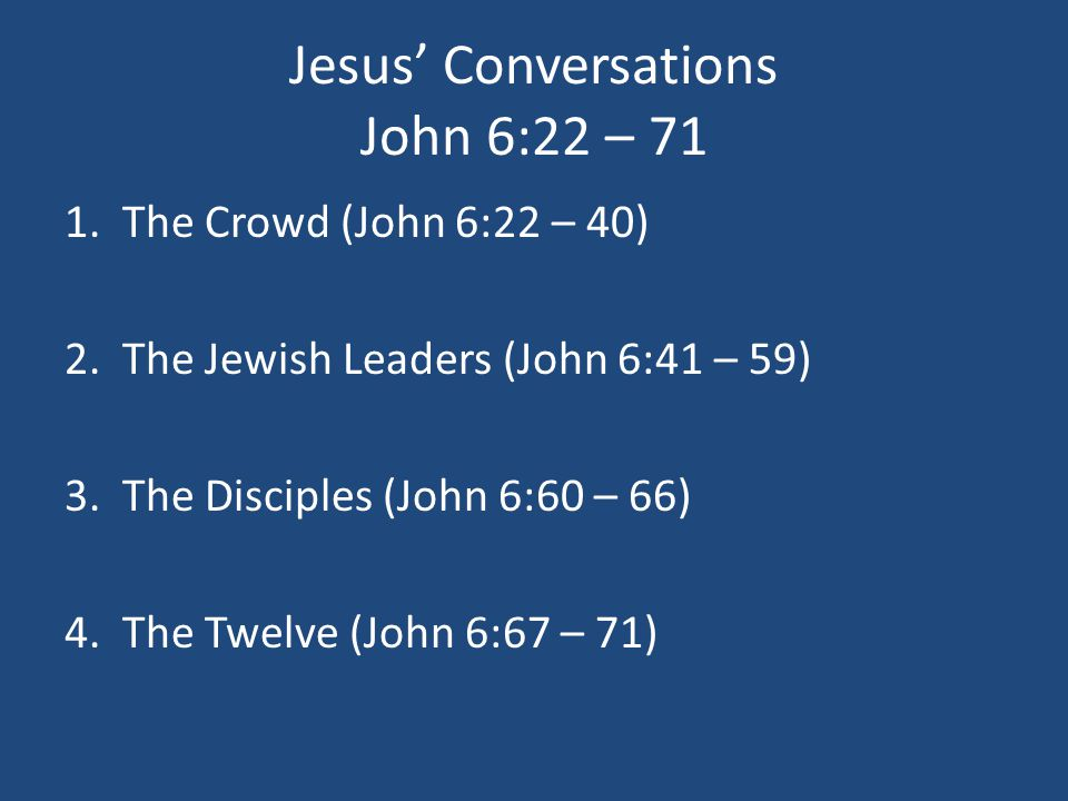 "Messages From John: ""I Am The Bread Of Life"" John 6:22 – ppt"