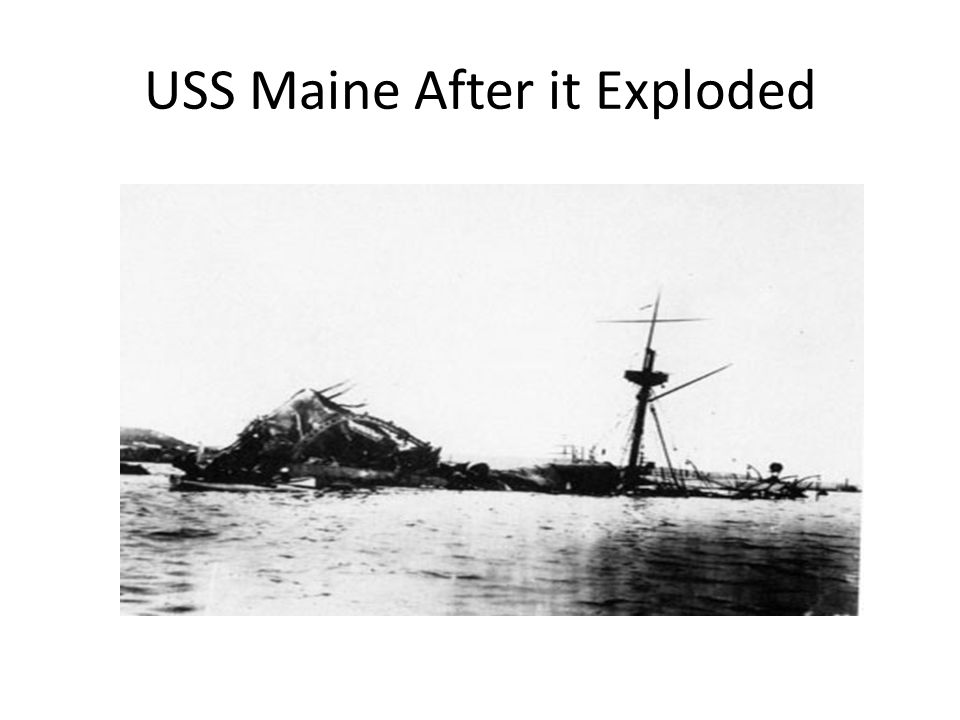 USS Maine After it Exploded