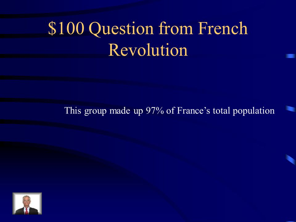 Jeopardy French Revolution Reign of Terror Napoleon Misc.