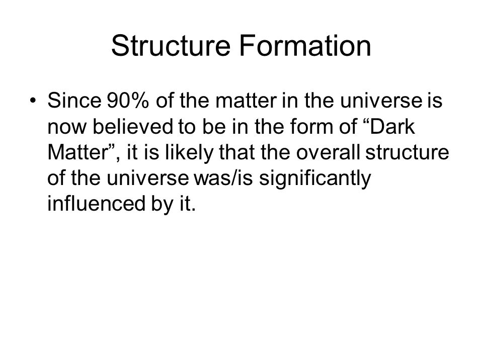 What is Dark Matter.