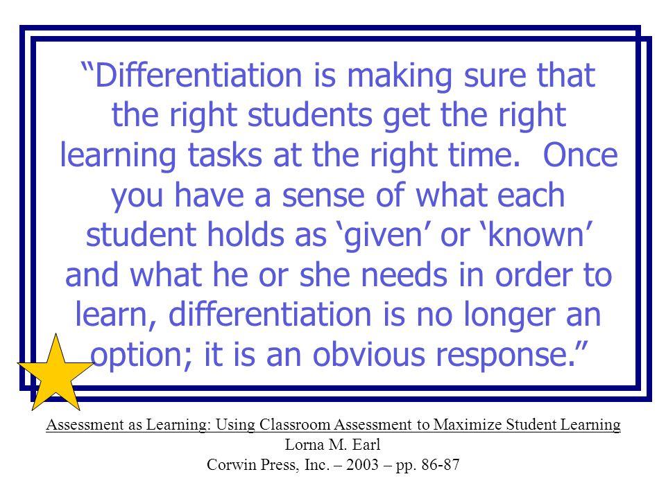 Differentiating Instruction In Elementary Mathematics Bay School