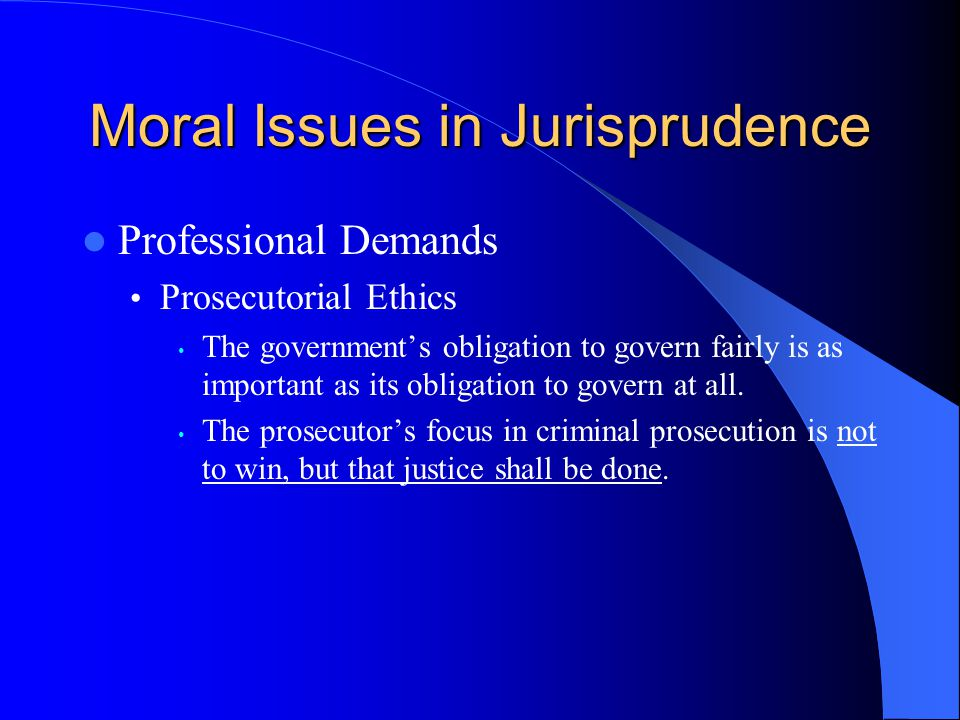 prosecutorial ethics outline